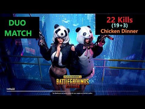 "[Hindi] PUBG Mobile | ""22 Kills"" Amazing Duo Match & Chicken Dinner"