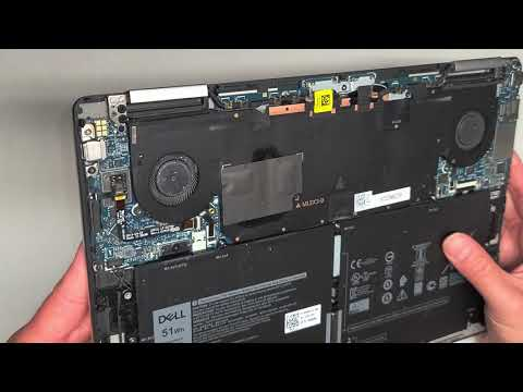 DELL XPS 13 7390 2-in-1 Disassembly Battery Replacement Repair Quick Look Inside