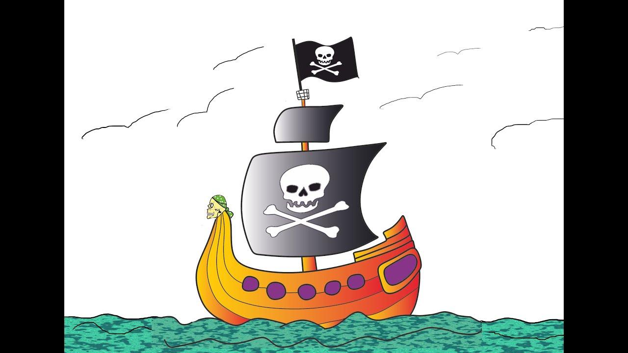 Un barco pirata navega por el mar youtube - Imagenes de barcos infantiles ...