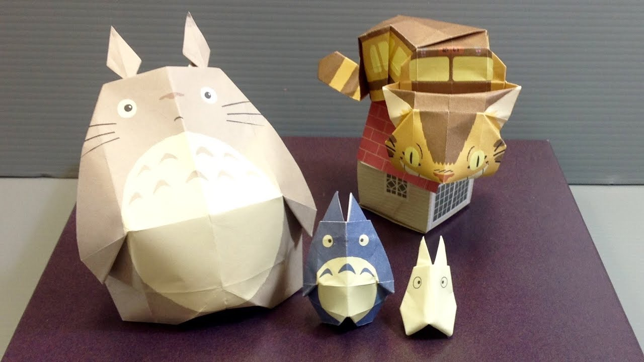 My Neighbor Totoro Origami Set Unboxing Youtube