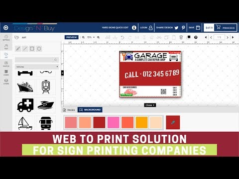 Web To Print Solution For Signage Printing Companies | W2p Designer Software | Signs Designer