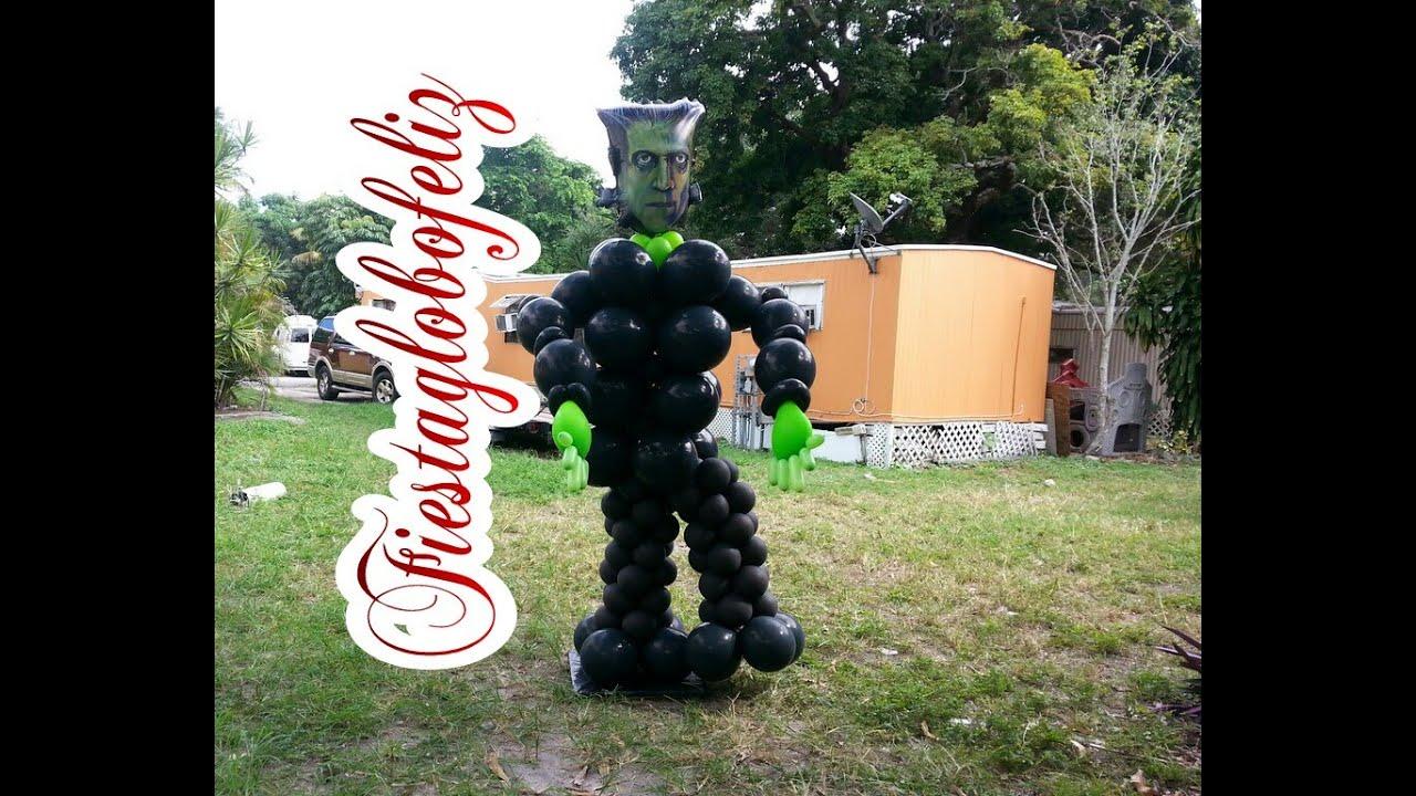 Como hacer a frankenstein con globos youtube - Como hacer figuras con globos ...