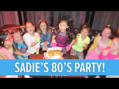 KIDS 1980'S THEMED BIRTHDAY PARTY! | That Reyes Family Vlog