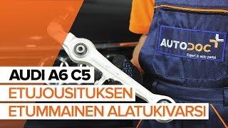 AUDI A6 Avant (4B5, C5) Alatukivarsi asennus : ilmainen video