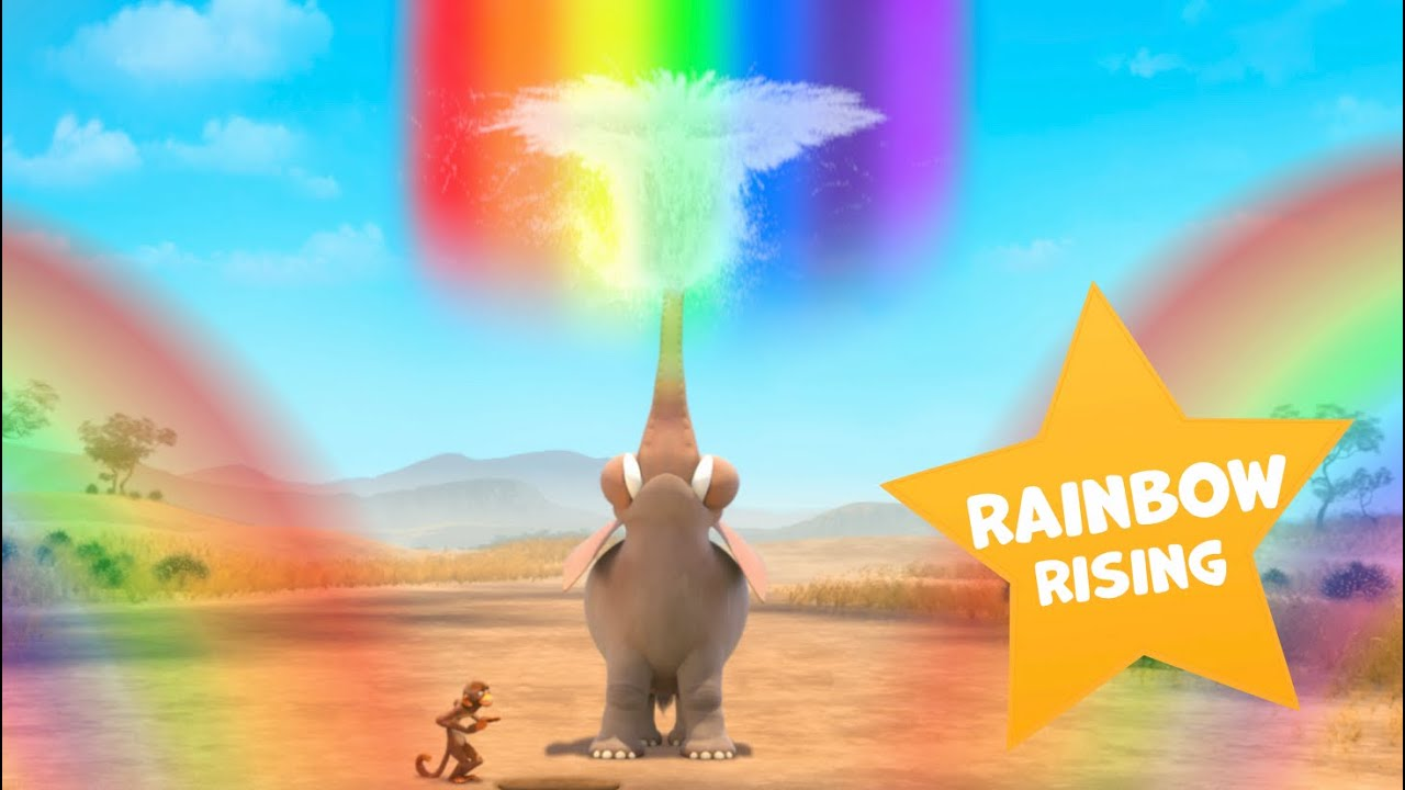 Colours and Rainbows | Jungle Beat: Munki and Trunk | VIDEOS and CARTOONS FOR KIDS 2021