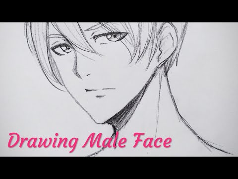 Drawing Manga/anime Male Face.