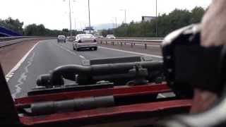 Belfast from inside a Ferret armoured car 21st Sept 2013.