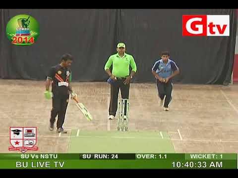 NSTU vs Southeast University in Clemon Indoor Uni Cricket 2014
