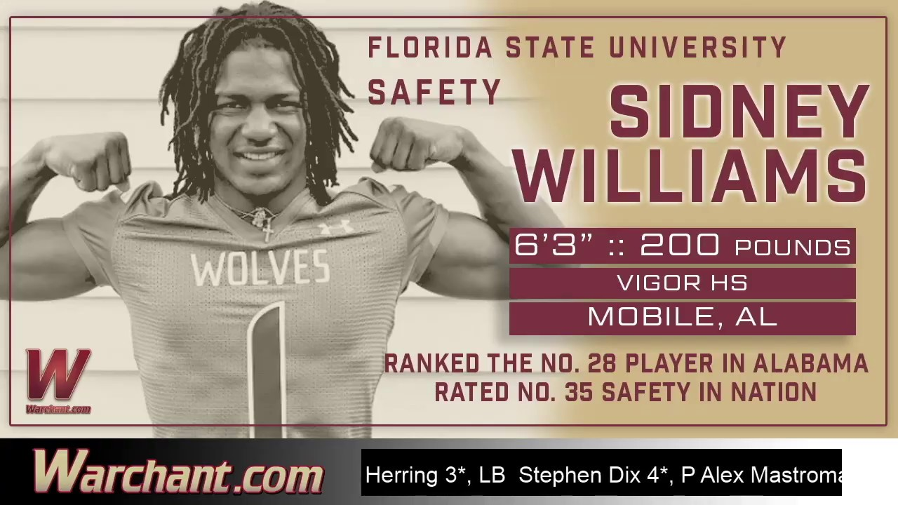 Fsu Safety Signee Sidney Williams Is Known For Playing With An Edge