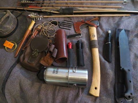 Beginner Archery Gear - Bear Montana Longbow, Knife And Axe Review