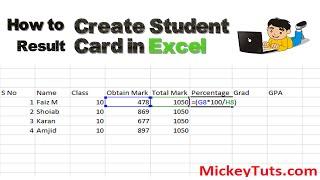 So Erstellen Schüler Ergebnis-Blatt in Microsoft Excel | Urdu/Hindi Tutorial