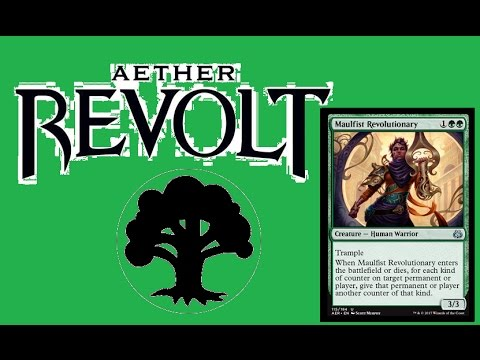 Aether Revolt - Green, energy tricks, pump spells and Godzilla mating with an electric eel