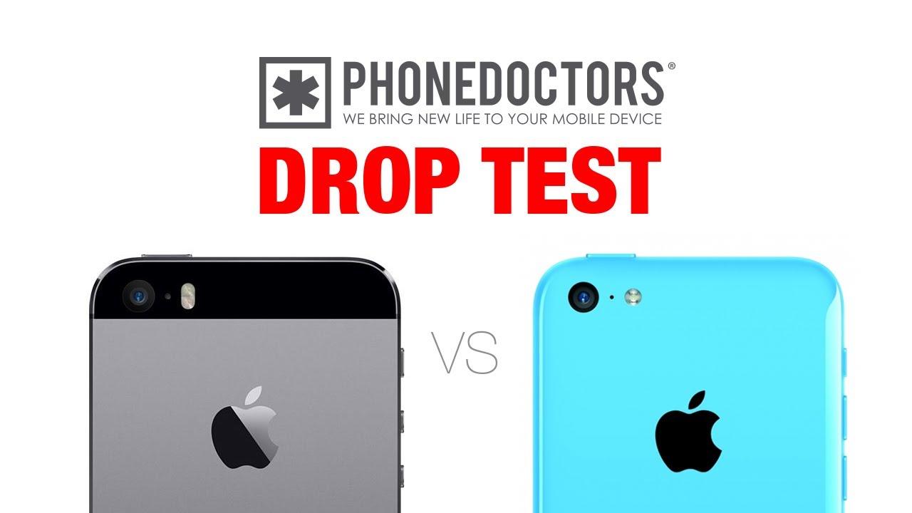 iphone 5s vs 5c drop test