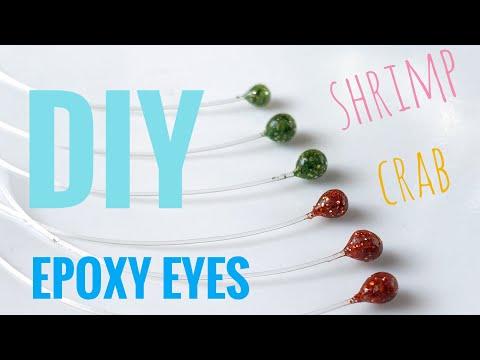 Epoxy shrimp and crab eyes