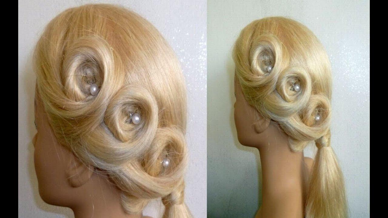 Einfache Blumen Zopf Frisur Ausgehfrisur Abiballfrisur Easy Flower Hairstyle Peinados