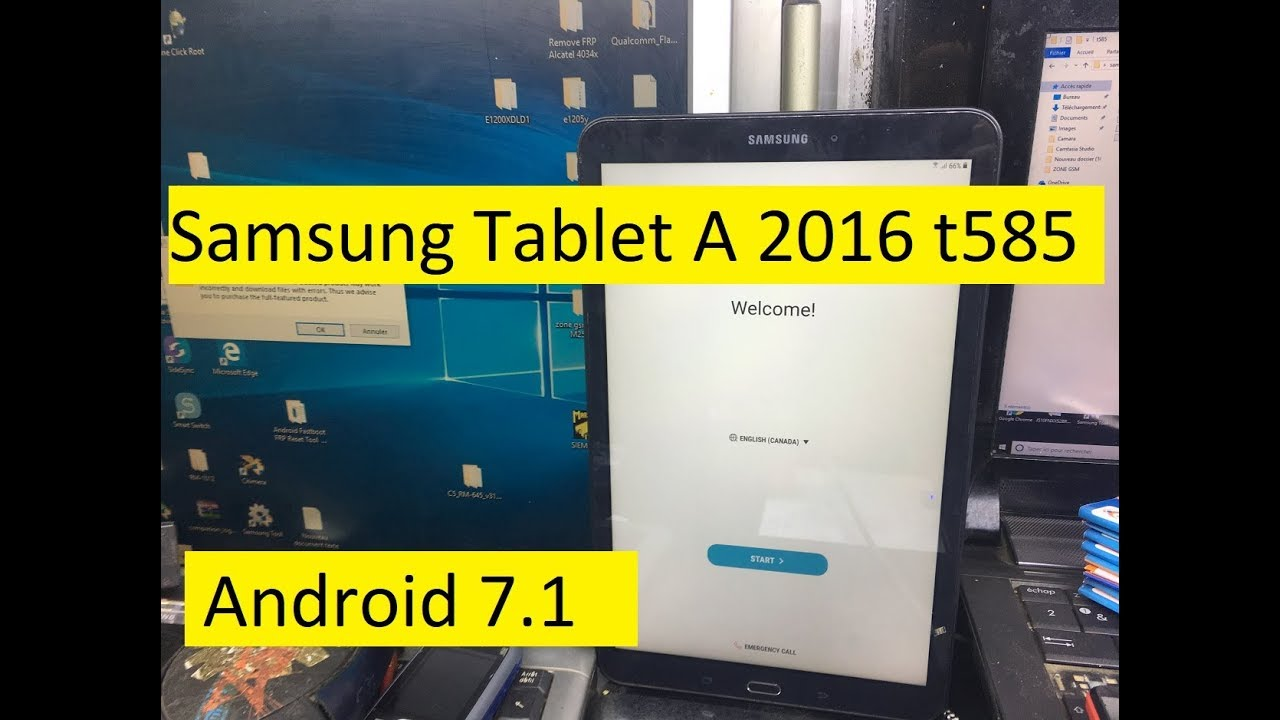 New Method Bypass Google Account FRP Protection on Android 7 1 Samsung  Tablet A 2016 t585