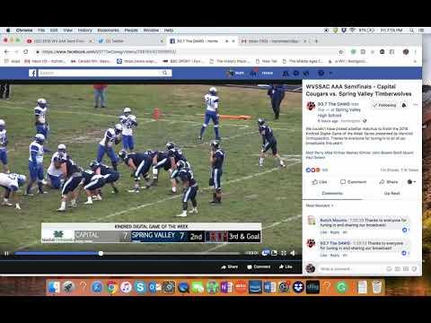 2018 WV AAA Football Semi-Final Spring Valley Vs Captial. Highlights Adkins To Howard