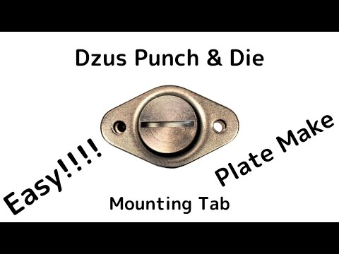 Mittler Brothers Dzus Punch & Die Set Turn DZUS Spring Adjuster Tool セルフイジェクトファスナー ズース 金型
