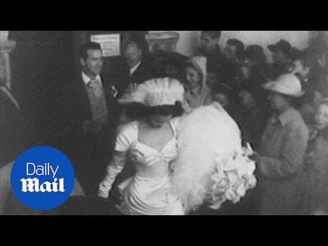Archive footage shows Gloria Vanderbilt getting married at 17 - Daily Mail