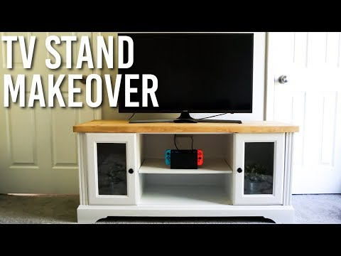 DIY TV Console Makeover