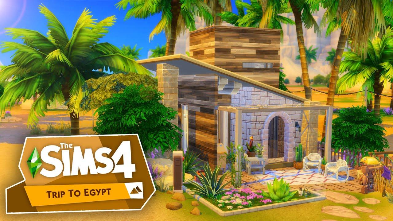 Tiny Living In Egypt Sims 4 Speed Build Triptoegypt Youtube