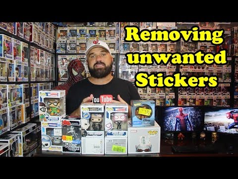 Removing Walmart stickers from Funko Pop boxes
