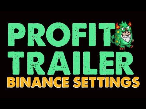 Profit Trailer : Binance Settings