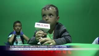 Clasa pregătitoare a școlii gimnaziale din Dărmănești, în vizită la NEst TV Channel