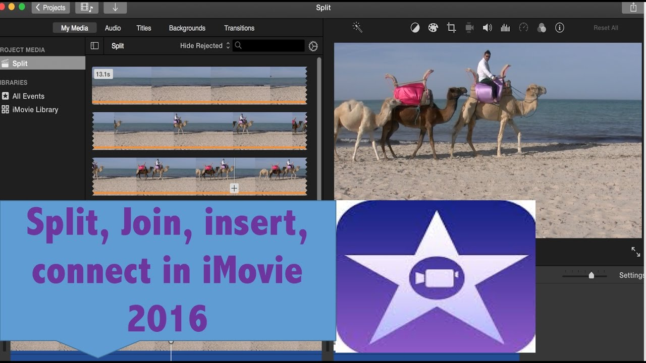 how to delete clips on imovie
