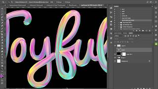 """Easy """"hand-painted' text with Photoshop Wet Paint Brushes"""