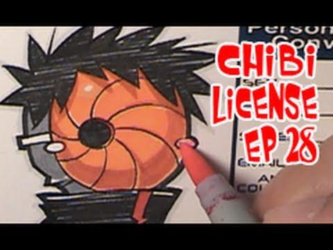 Drawing Chibi License - Tobi | Naruto