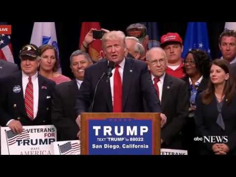 Donald J. Trump Campaign Rally in San Diego, California, May 27, 2016