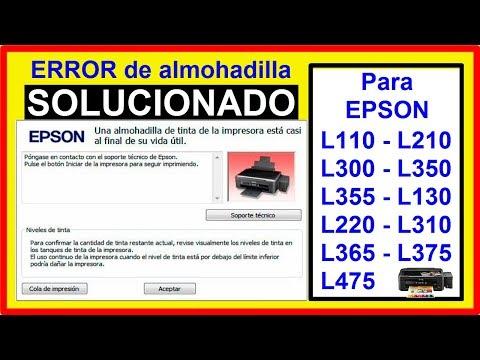 Cómo Resetear EPSON L110 L210 L300 L350 L355 L130 L220 L310 L365 L375 L475