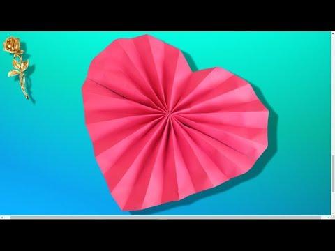 Origami facile : ❤️ Cœur en éventail 💗