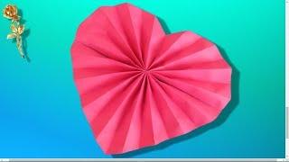 Origami facile : Cœur en éventail