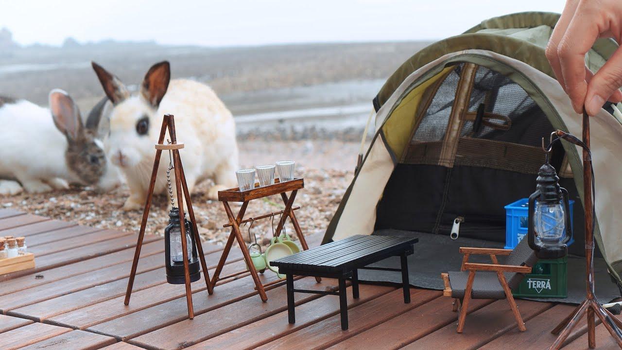 미니어처 캠핑 / 토끼가 있는 바닷가 캠핑장 / 서산 벌천포 / Miniature Camping / 미니어처 요리 / Miniature cooking
