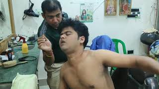 Powerful massage therapy by Asim barber | Indian head and body massage | ASMR