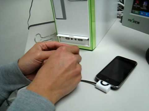 Pocketable Sync and Charger Cable for iPhone / iPhone 3G / iPod