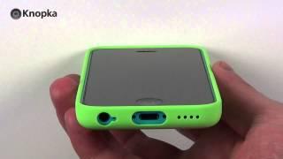 Чехлы для iPhone 5c: Apple iPhone 5c Case(Обзор фирменных силиконовых чехлов от Apple с оригинальной перфорацией. http://knopka.com.ua/apple_black_iph5c.htm (Купить в..., 2013-12-24T17:01:27.000Z)