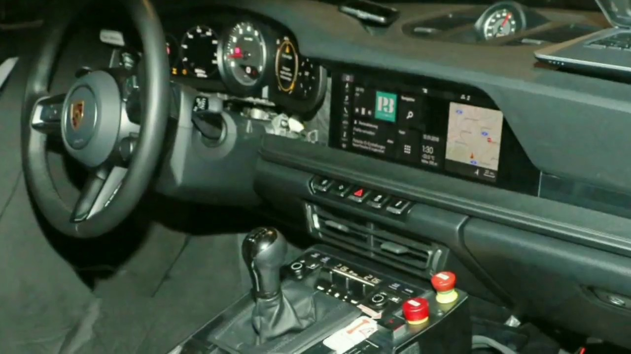 2019 Porsche 911 Turbo S >> 2020 Porsche 911 992 Interior Spied !!! - YouTube