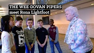 The Wee Govan Pipers meet Rona Lightfoot