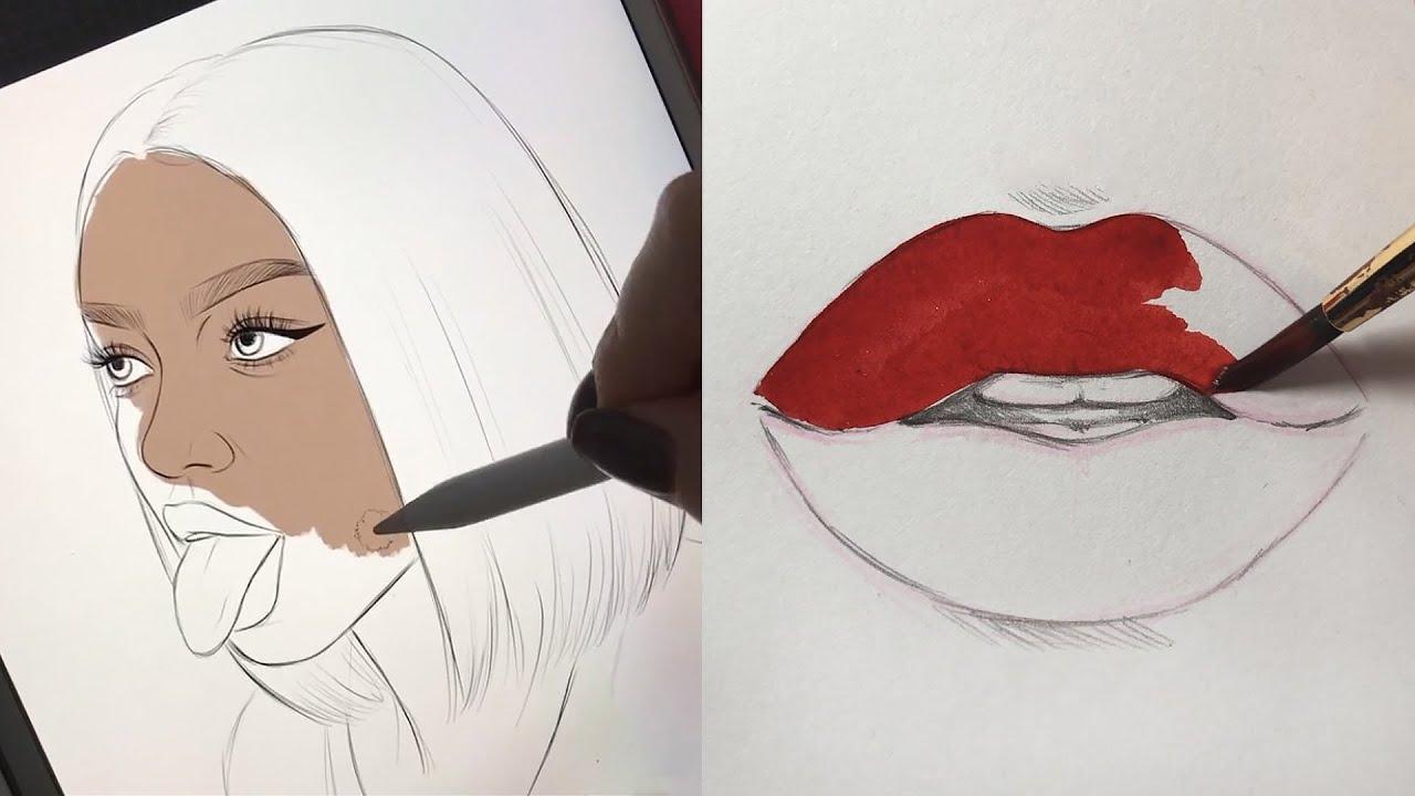 Oddly Satisfying Art Videos Natalia Madej Compliation