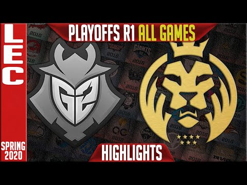 G2 Vs MAD Highlights ALL GAMES   LEC Spring 2020 Playoffs Round 1   G2 Esports Vs MAD Lions