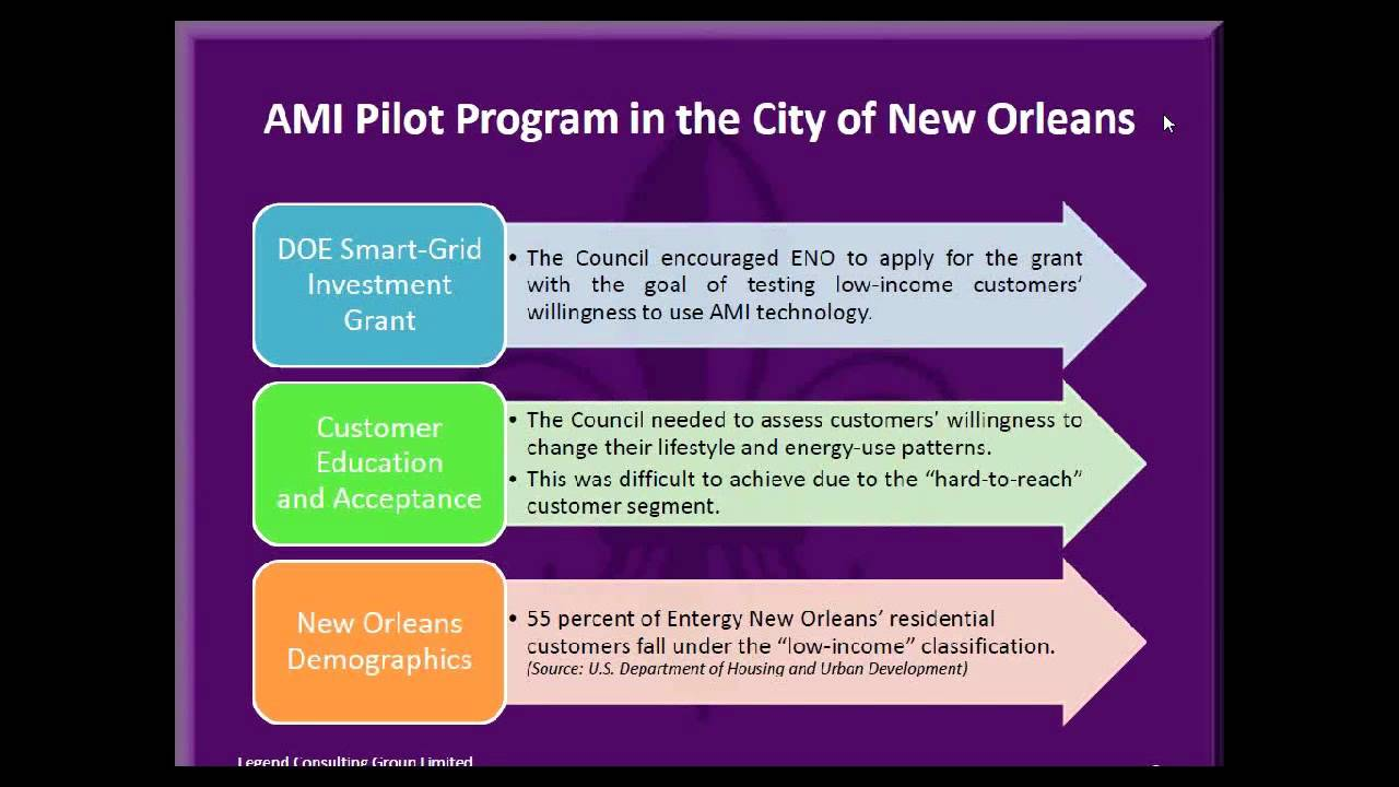 """Entergy New Orleans """"SmartView"""" AMI Pilot - ESCI KSP"""