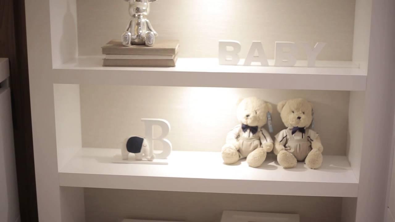 Quarto De Bebe Masculino Azul Marinho Redival Com ~ Ideias Para Quarto Masculino E Quarto Branco E Dourado