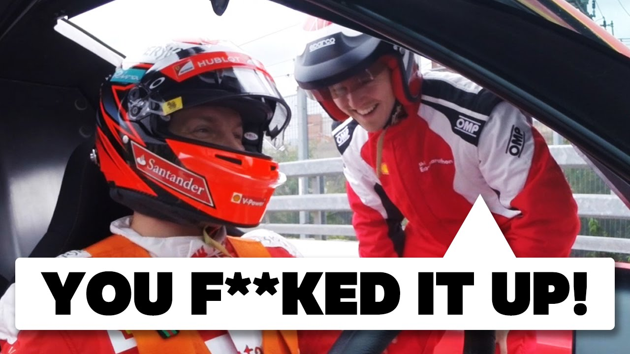 Breaking A Car With Kimi Räikkönen