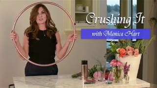 DIY Hula Hoop Wreath ~ Crushing It with Monica Hart