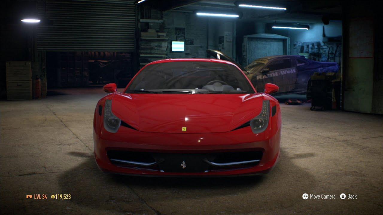 Need For Speed 2015 Ferrari 458 Italia 2009 Test Drive