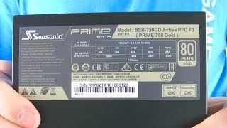 Zasilacz Seasonic PRIME 750W 80 Plus GOLD ATX (Szybka Rozpaka) | 07.2017 McSzakalTV