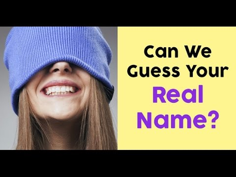 Can they guess my real name ? - YouTube